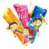 Happy Holi Background for Festival of Colors celebration greetings Stock Photo