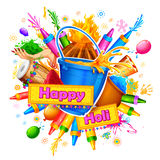 Happy Holi Background for Festival of Colors celebration greetings Stock Images