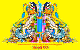 Happy Holi Background for Festival of Colors celebration greetings Stock Image