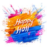 Happy holi background for festival of colors celebration greetings Royalty Free Stock Photos
