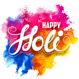 Happy Holi background. Illustration of abstract colorful Happy Holi background royalty free illustration
