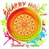 Happy Holi. Beautiful colorful mandala. Design element for festival of spring and colors. Beautiful colorful mandala. Design element for festival of colors Stock Images