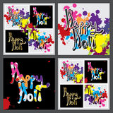 Happy Holi calligraphy frame Stock Images