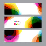 Happy Holi card template Royalty Free Stock Photo