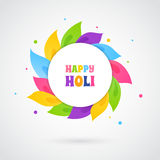 Happy Holi card template Stock Images