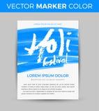 Happy Holi celebration. Design for Indian Festival of Colours. Creative vector illustration