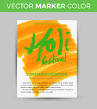Happy Holi celebration. Design for Indian Festival of Colours. Creative stock illustration