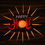 Happy Holi celebration. Handwritten lettering for the annual Indian festival of colors Holi. Vector handwritten lettering for the annual Indian festival of Royalty Free Stock Photo