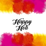 Happy holi color gulal powder splashes Royalty Free Stock Photos