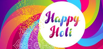Happy Holi colorful background. Party banner for celebration or festival royalty free illustration