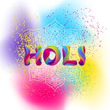 Happy Holi colorful background. Party banner for celebration or festival stock illustration