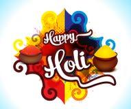 Happy holi colorfull background with rangoli Royalty Free Stock Photo