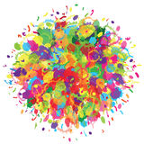 Happy Holi colourful background. Abstract for Happy Holi colourful background. Vector illustration Royalty Free Stock Photos