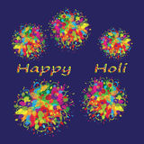 Happy Holi colourful background. Abstract for Happy Holi colourful background. Vector illustration Stock Photo