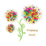 Happy Holi colourful background. Happy Holi colourful postcard background. Vector illustration Royalty Free Stock Photo