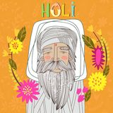 Happy Holi - concept  card. Indian festival Happy Holi cel. Ebrations Design in a colorful style Royalty Free Stock Photo