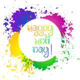 Happy Holi day card Stock Images