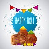Happy holi festival color celebration card Royalty Free Stock Photo