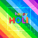 Happy holi festival colorful background with rainbow colors. Vector illustration Stock Images