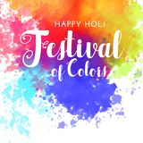 Happy holi festival of colors background. Illustration Stock Photography