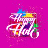 Happy holi festival of colors greeting design. Illustration Stock Photos