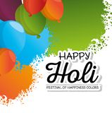 Happy holi festival colors. Vector illustration design Stock Photography