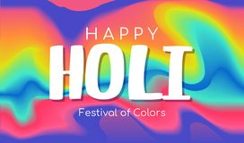 Happy Holi. Festival of colors. Vector creative banner. Liquid colorful paint background Royalty Free Stock Photo