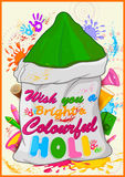 Happy Holi, festival of colors. Vector illustration Royalty Free Stock Photo