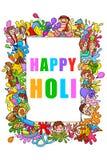 Happy Holi festival doodle Royalty Free Stock Photography