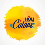 Happy Holi Festival. The Festival of Colors. White Typography on. Colorful watercolor on white background. For web design and application interface, also useful Royalty Free Stock Images