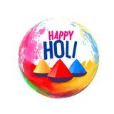 Happy holi festival greeting design background. Illustration Stock Photos