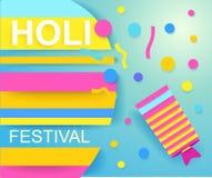 Happy Holi festival poster for promotion. Colorful banner. Vector illustration vector illustration