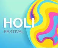 Happy Holi festival poster for promotion. Colorful banner. Vector illustration royalty free illustration