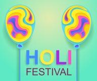 Happy Holi festival poster for promotion. Colorful banner. Vector illustration stock illustration