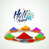 Happy holi festival. white holi background having creative typog. Raphy and colorful holi elements - For web design and application interface, also useful for Royalty Free Stock Image