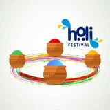 Happy holi festival. white holi background having creative typog. Raphy and colorful holi elements. For web design and application interface, also useful for Stock Photos