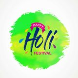 Happy holi festival. white holi background having creative typog. Raphy and multi water colors. For web design and application interface, also useful for Stock Photography