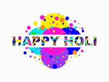 Happy Holi. Indian festival of colours. Background for greeting card, banner and poster. Vector. Illustration Stock Images