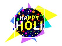 Happy Holi. Indian festival of colours. Background for greeting card, banner and poster. Vector. Illustration Stock Photos