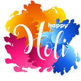 Happy Holi poster with handwritten text. Vector illustration design for party. Festival of colors. Happy Holi poster with handwritten text. Vector illustration Royalty Free Stock Photos