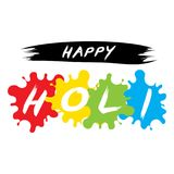 Happy Holi spring festival of colors design. Use for banners, invitations and greeting cards Stock Images