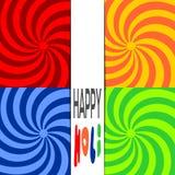 Happy Holi. Stylish colorful holi festival background. Indian festival of colors celebration with text Holi. Vector bright colorful background Royalty Free Stock Images