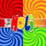 Happy Holi. Stylish colorful holi festival background. Indian festival of colors. Celebration with text Happy Holi. Vector bright colorful background Stock Image
