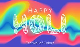 Happy Holi. Vector colorful banner template. Greeting card Royalty Free Stock Photo