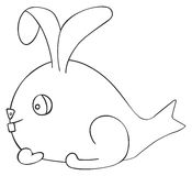 Happy holiday - April fish Hare Stock Photography