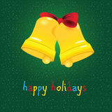 Happy holiday with bell Stock Images
