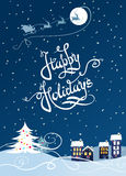 Happy holiday card. Vector Illustration Royalty Free Stock Image