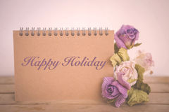 Happy holiday card, vintage tone style Royalty Free Stock Image