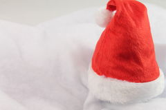 Happy holiday christmas with red christmas hat isolated Stock Image