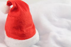 Happy holiday christmas with red christmas hat isolated Stock Photos
